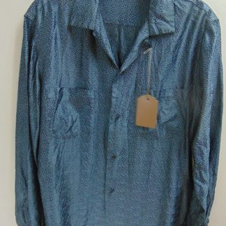 6b3b6a441 l45s65 1950's Vintage Penny's Taffeta Acetate? Rayon? Rock n Roll Shirt M  $70